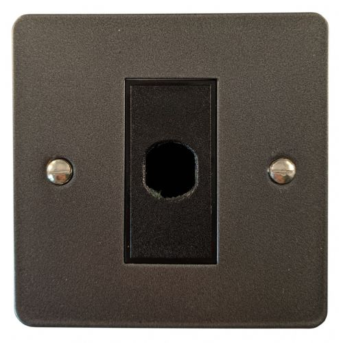 G&H FP79B Flat Plate Pewter 1 Gang Flex Outlet Plate